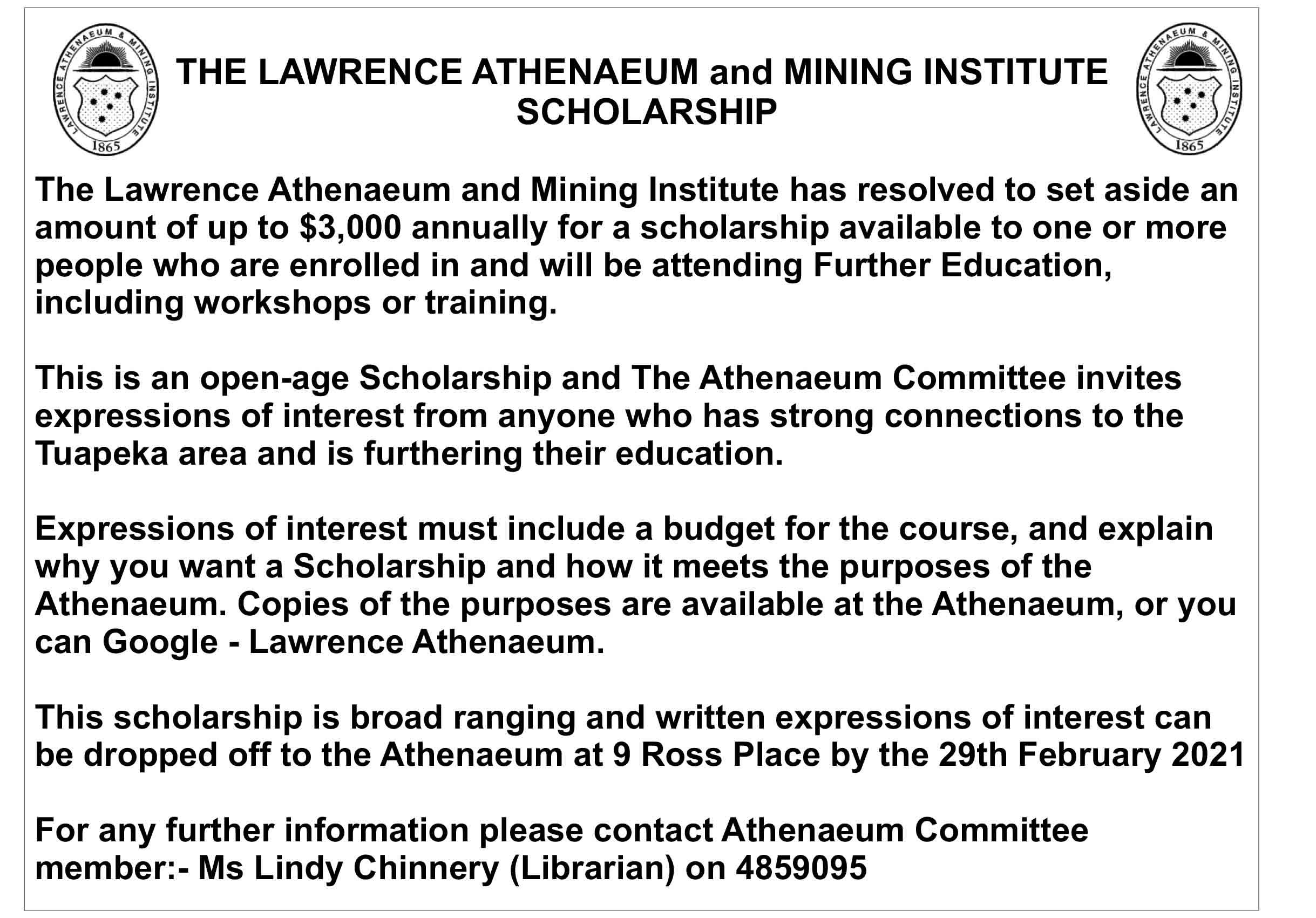 Athenaeum Scholarship