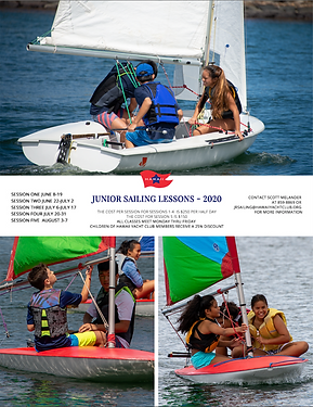 HYC Junior Sailing Classes Summer 2020 .