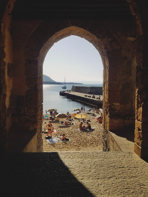 4x6in Print, Cefalù Beach