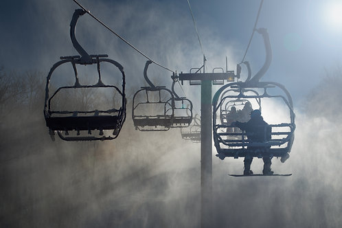 4x6in Print, Frosty Chairlift