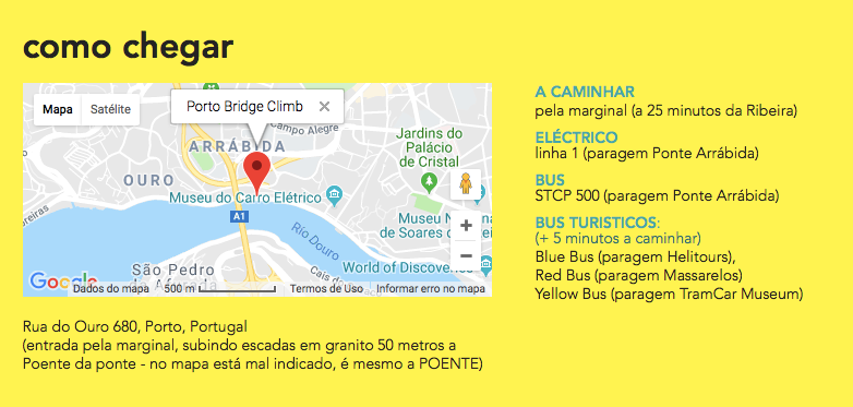 como chegar ao Porto?