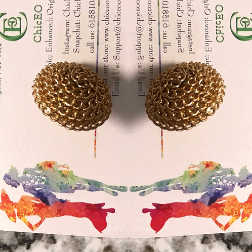 gold chain earring