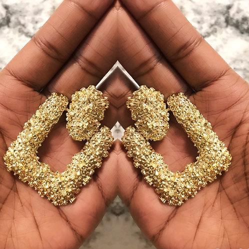 Chunky square earrings