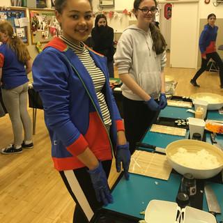 Girl Guides sushi-making