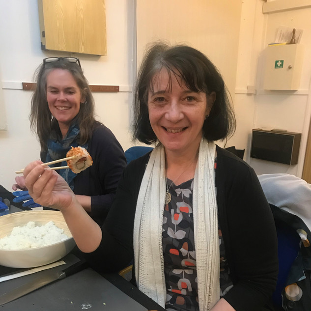 Sushi making workshop for the WI