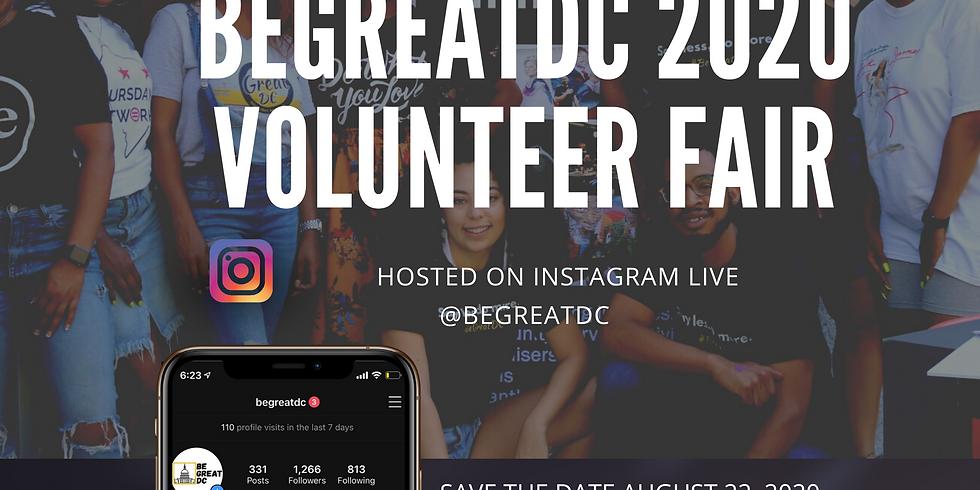 BeGreatDC 2020 Volunteer Fair