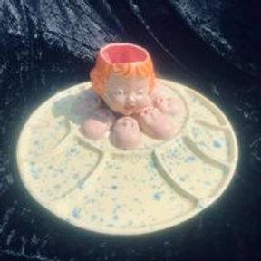 BABY HEAD PLATTER PLATE