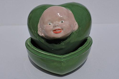 BABY HEAD - HEART SHAPED BOX - NO HAIR