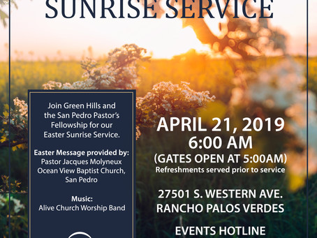 Green Hills Easter Sunrise Service