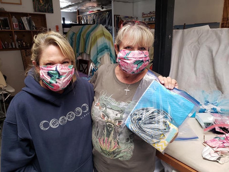 Handmade Angel Masks for Hospitals
