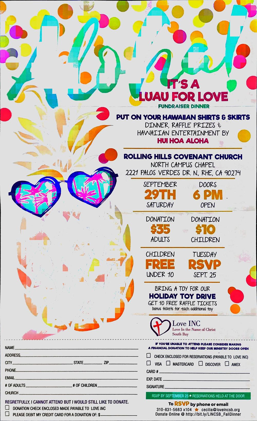 Love Inc Luau Flyer