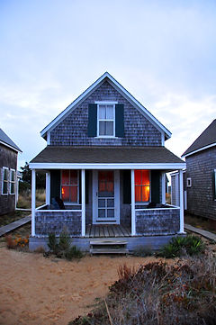 A beachfront cottage on Cape Cod