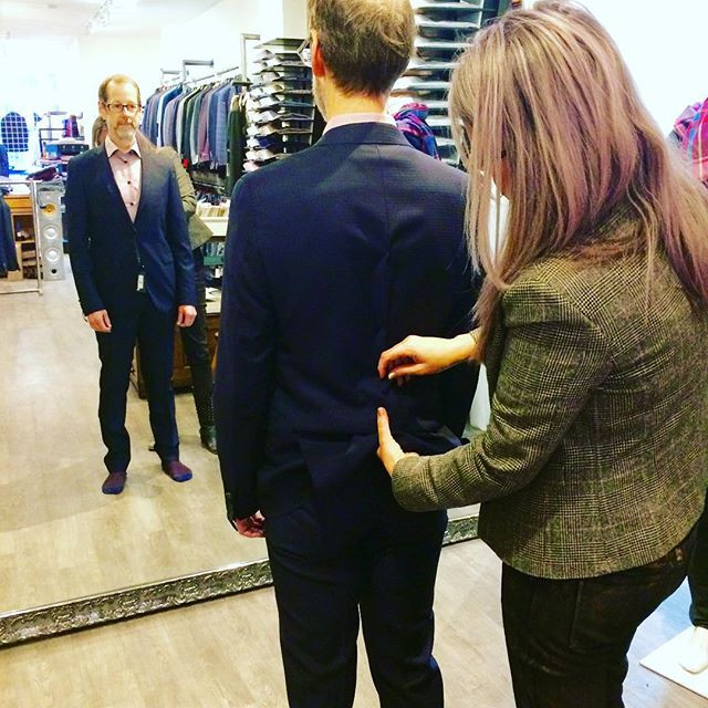 Custom Fitting for Made to Measure Suit at Theodore 1922 Toronto