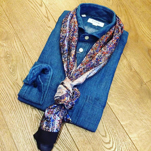 Mens Casual Dress Shirt from Eton with Scarf Theodore1922