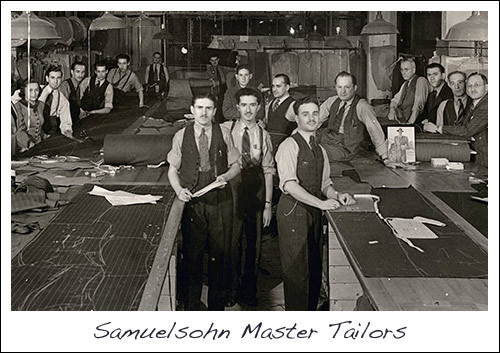 Samuelsohn Made to Measure Suits Master Tailors at Work