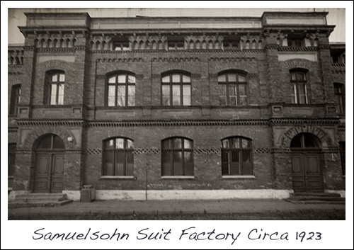 Samuelsohn Made to Measure Suit Factory Circa 1923