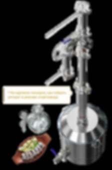 Самогонный аппарат Luxstahl 7 не требует регулровки по охлаждению, производит чистый спирт 96,6%, две царги в комплекте