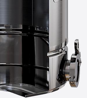 """Нагрев на индукционных, газовых, керамических, электроплитах обеспечивает 3-слойное ферромагнитное дно. На каждом кубе есть 2"""" выход с заглушкой на клампе для доустановки ТЭНа."""
