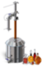 Самогонный аппарат Luxstahl 7M (Люкссталь 7М), один аппарат для всех напитков, две царги, узел отбора, СПН
