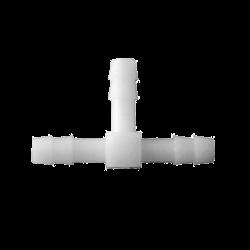 Тройник пластиковый под трубку (ёлочка), 10 мм