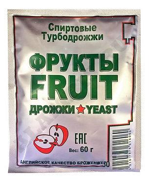 Дрожжи спиртовые Fruit Turbo, 60 гр.
