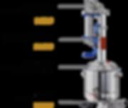 Дополнительные товары для самогонного аппарата Luxstahl 6, джин корзина, дополнительная царга, тэн 3 кВт
