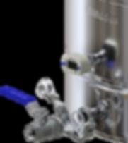 """Кран 1/2 на клампе 1"""". Обновленный Luxstahl 6 имеет полнопроходной кран на клампе, который обеспечивает в 2 раза большую скорость слива, чем на большинстве кранв конкурентов."""