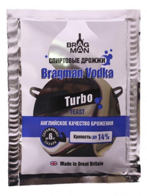 Дрожжи Bragman спиртовые Vodka Turbo, 66 гр.