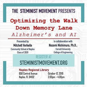 Steminist Movement Alzheimers AI Mitchell Verhelle Community School of Naples Nozomi Nishimura Cornell Univerity 2019