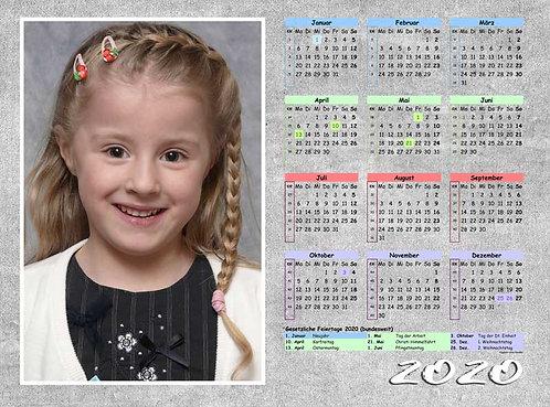 Jahreskalender im Querformat