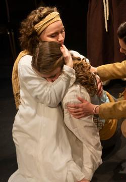 Rita McCann as Angelica and Laurel Andersen as Juliet (Romeo & Juliet)