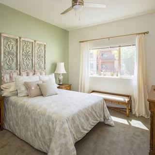Model Unit Green Bedroom