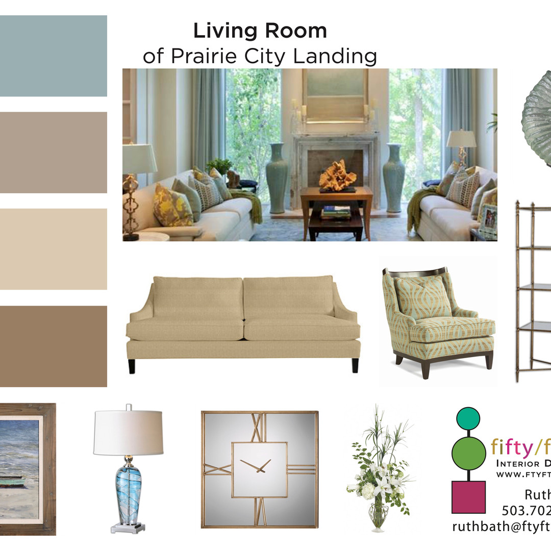Commercial Living Room Mood Board