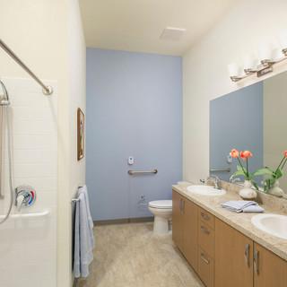 Model Unit Blue Bathroom