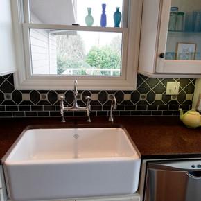 Kitchen Sink and Workspace