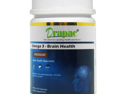 Drapac Omega-3-Brain-Health Premium 80 Capsules