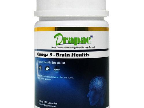 Drapac Omega-3-Brain-Health 80 Capsules