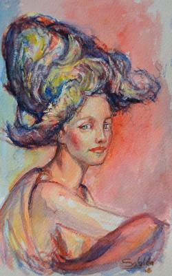 Femme au chapeau XV