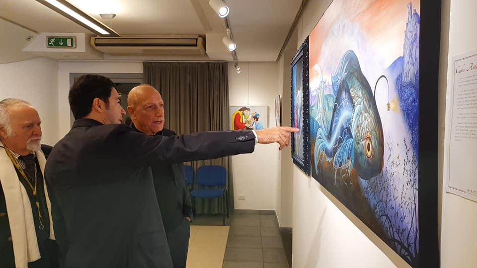 avec Nicoletta Rossotti, Salvo Nugnes, José Van Roy Dalì et Pippo Franco.