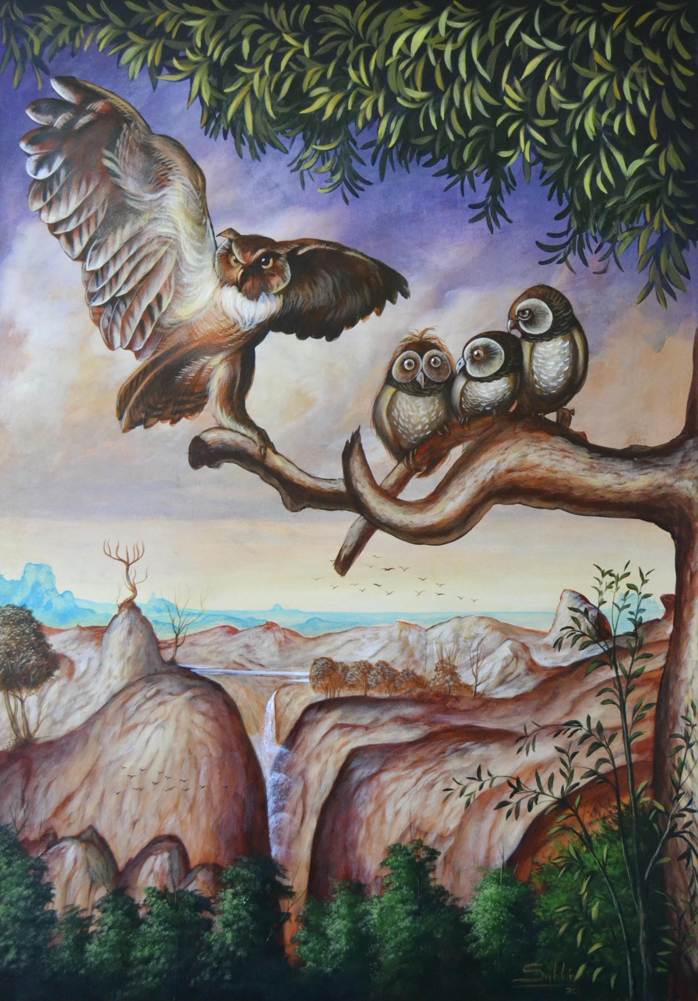 L'Aigle et l'hibou.