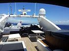 Flybridge yacht