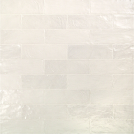 Montauk Gin 2x8 White Ceramic Wall Tile