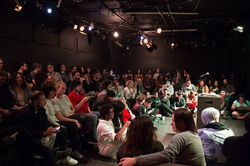 packed audience at the lyric-hyperion