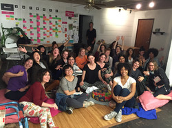 The First Ever Feminist Acting Class, 2016 at the Women's Center for Creative Work!