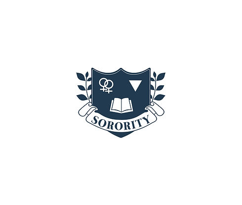 SORORITY logo single with more white spa