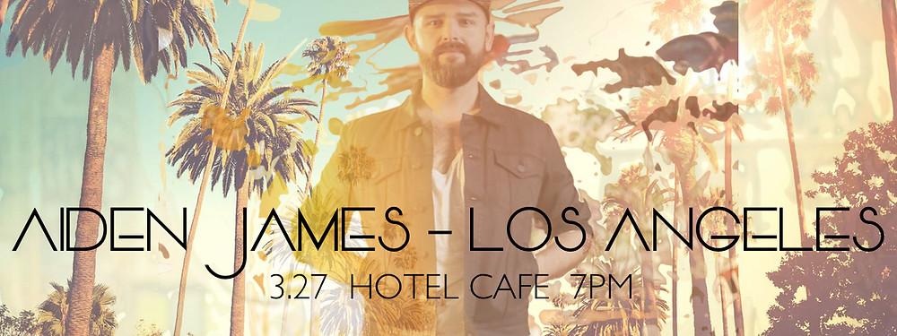 Aiden James Los Angeles Tour Poster