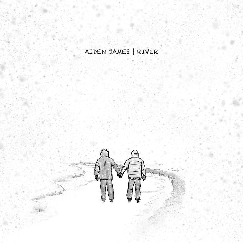 Aiden James River Single Cover Song Art