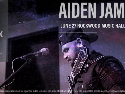 Aiden Jame NYC Pride Concert at Rockwood Music Hall