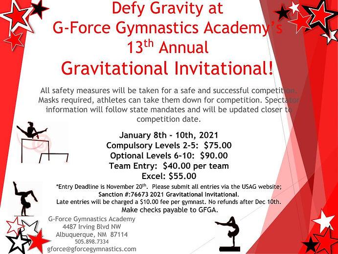 Gravitational invitational Invite 2020 (