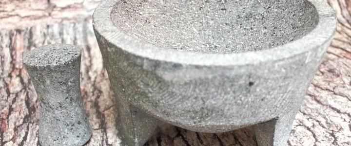 Molcajete de piedra volcanica